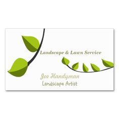 Lawn Care  Landscaping Business Cards. This great business card design is available for customization. All text style, colors, sizes can be modified to fit your needs. Just click the image to learn more!