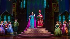Love is an open curtain! See Frozen like never before in the all new theatrical spectacular at Disneyland Resort: #FROZEN #ELSA #ANNA #OLAF #KRISTOFF