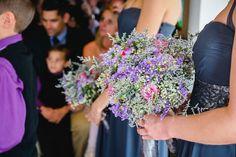 Bright Pink & Purple Bouquet. Navy Blue Bridesmaids. Gorgeous Bride, Gorgeous Flowers. Calderwood Hall. Natural Nostalgia. Décor, Flowers.