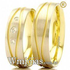 ee0a7ea6e64 Aliança de luxo para casamento e noivado com pedra 13 a 15g WM3089