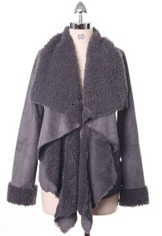 I baged this jacket today. I sign up and got a discount. Free shipping too : D Great fall jacket.  Chicwish Drape Jacket in Ash