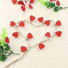 12PCS/Lot Heart Shape Wood Clips Office Decoration Supplies Heart Mini Wood Clothespin Clips