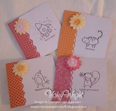 Found this card design online uses stampin up stamps