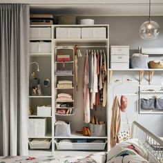 Wardrobe Room, Diy Wardrobe, White Wardrobe, Wardrobe Design, Wardrobe Ideas, Wardrobe Small Bedroom, Closet Ideas For Small Spaces Bedroom, Small Walk In Wardrobe, Hanging Wardrobe