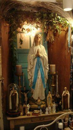 Catholic decoration, shrine to Mary