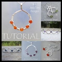 Wirework Tutorial - COILED JEWELS (Pendant, Earrings and Bangles) - Lesson £3.00