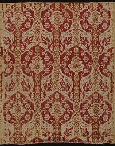 16th century ottoman silk velvet dress fabric