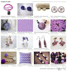 """Grapes for Bev  https://www.etsy.com/treasury/MzU1MzI5Nzl8MjcyMzc0NDAxNw/grapes-for-bev  Simply The Best treasury competition. If you would like to be considered for our fun and supportive team, please go here to apply: www.etsy.com/teams/16167/simply-the-best""""  Please stop by and show some love"""