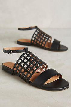 Corso Como Caged Sandals Black 7.5 Sandals
