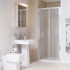 The Atlas Shower Door opens inwards, making it perfect for installing in smaller bathrooms or tight spaces. The infolding design also prevents water dripping from the door frame on to the bathroom floor. Shower Tray, Small Bathroom, A Frame Cabin, Shower Enclosure, Shower Doors, Small Shower Room, Bathroom Flooring, Bifold Doors, Doors