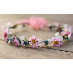 Silk Flower Crown Hair Wreath Teal Pink Hippie Daisy Headband Bridal... ($40) ❤ liked on Polyvore featuring accessories, hair accessories, grey, headbands & turbans, flower crown headband, bridal flower crown, turban headband, boho flower headband and bridal hair accessories
