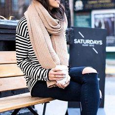 Shop chunky knit scarves