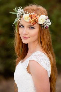 We did the floral crown and bouquet for this gorgeous real bride in Aug 2015. We'd love to help with your Whatcom county wedding flowers, whether it be a a la carte crown or a full roster of wedding floral bliss!