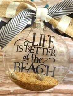 Vinyl Letter Beach Quote Ornament