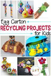 Egg carton recycling projects are perfect for upcycling a common household item . Egg carton recycling projects are perfect for upcycling a common h. Recycling Projects For Kids, Diy Recycling, Recycled Art Projects, Easy Art Projects, Upcycled Crafts, Arts And Crafts For Adults, Easy Arts And Crafts, Easy Crafts For Kids, Toddler Crafts