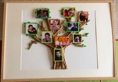 So I made this papier mache family tree for my grandad's 80th bday. hope he likes it!
