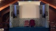 Stage castle - For the Tree House and summer curriculum Huzzah for the King with Kingdom Rock VBS