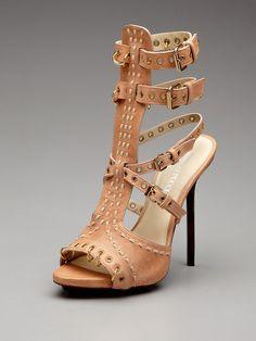 25569f69893140 Emilio Pucci Leather Link Sandal Pretty Shoes