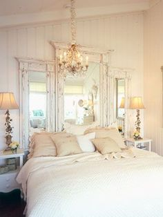 Love these old mirrors, what a great idea! Possibly use old doorways?