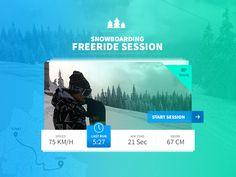 Snowboarding Freeride Widget by Ayhan Bari