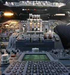 Cabina de un Boeing 747