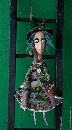 """Сказочные персонажи ручной работы. Ярмарка Мастеров - ручная работа. Купить Авторская кукла """"Зеленая Эмма"""". Handmade. Зеленая, изолон"""