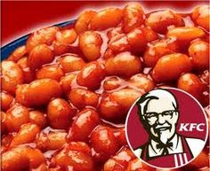 KFC BBQ Baked Beans 2 cans small white beans (with liquid) 2 tablespoons water 1 tablespoon cornstarch cup ketchup cup dar. Chicken And Baked Beans Recipe, Baked Beans Salad, Kfc Chicken Recipe, Bbq Baked Beans, Bbq Beans, Baked Bean Recipes, Fried Chicken, Copycat Recipes Kfc, Kfc Gravy Recipe