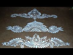 Three beautiful and best door alpona design Simple Rangoli Designs Images, Rangoli Designs Latest, Rangoli Designs Flower, Rangoli Border Designs, Rangoli Designs Diwali, Rangoli Designs With Dots, Beautiful Rangoli Designs, Rangoli Borders, Rangoli Patterns