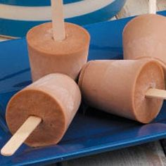 Chocolate peanut butter frozen pops. Make them with Splenda and sugar free chocolate almond milk for a low-carb (6g. carbs if split into 13 pops) treat.
