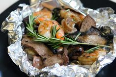 Surf and Turf Foil Packs by Brooke Mclay, babble #Grill #Foil_Pack #Easy