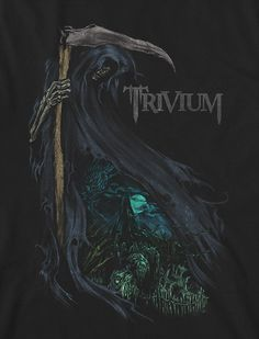 T-shirt designs for Trivium Thrash Metal, Power Metal, Matt Heafy, Rock Band Posters, Metal Shirts, Band Wallpapers, Epic Art, Music Images, Heavy Metal Bands