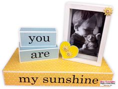 Every mother would love this easy-to-make wood block and frame set to display her child's special moment. Come in and we'll help you gather all your supplies and answer all your questions. Mod Podge Crafts, Fun Crafts, Special Gifts For Mom, Old Boxes, Frame Crafts, You Are My Sunshine, Frame Shop, Wood Blocks, Craft Stores
