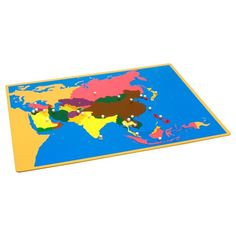 Puzzle Map of Asia | KidAdvance.com