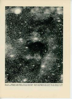 1959 barnard's dark star nebula in sagittarius original vintage astronomy galaxy print