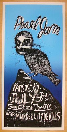 Pearl Jam - Kansas City Silkscreen Concert Poster by Ames1998