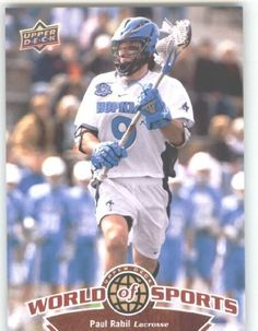 2010 Upper Deck World of Sports Trading Card # 295 Paul Rabil - Lacrosse by Upper Deck. $1.87. 2010 Upper Deck World of Sports Trading Card # 295 Paul Rabil - Lacrosse