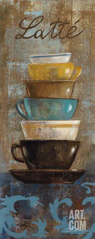 Antique Coffee Cups II Print by Silvia Vassileva at Art.com