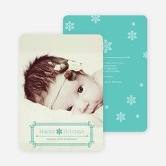 Art Deco Holiday Photo Cards from Paper Culture