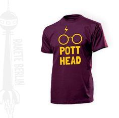 T-Shirt 'PottHead'  von RaketeBerlin auf DaWanda.com