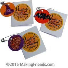 Is your group having a Halloween party to celebrate Juliette Low's birthday? These SWAPs are for you! Add your own message inside the preprinted mini card. No Scissors or glue needed!