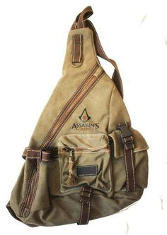 I found Assassins Creed 3 Backpack satchel on Wish, check it out! Modern Assassin, Assassin's Creed I, Satchel Backpack, Geek Gear, Cool Gear, Stuff And Thangs, Video Games, Geek Stuff, Gaming