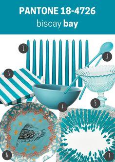 pantone 18-4726 biascay bay | kuchnia / jadalnia // kitchen / dining room Kitchen Dining, Dining Room, Pantone, 18th, Plates, Tableware, Blog, Licence Plates, Kitchen Dining Living
