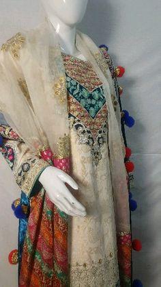 Zeen by Cambridge Desi Wedding Dresses, Pakistani Bridal Dresses, Pakistani Dress Design, Stylish Dress Designs, Stylish Dresses, Fashion Dresses, Hand Embroidery Dress, Embroidery Suits, Pakistani Fashion Party Wear