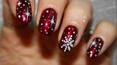 Christmas flakes nails