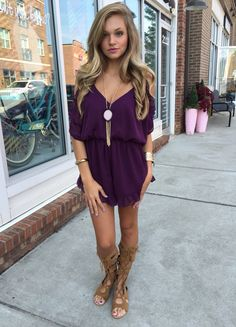 Color crush...not a fan of the boots but love the romper especially the color<3 #swoonboutique