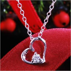 Rakuten: Diamond heart necklace Cem Kelly natural diamond open heart necklace pendant-diamond-[the jewelry which wants to put on in summer]- Shopping Japanese products from Japan