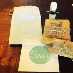 LOVE your body! Enjoy handmade grapefruit soap, all natural bath salts and all natural lemon oil in our Mind + Body + Soul Box