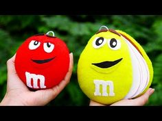 Our new tutorial we'll craft sweet M&M's characters using cardstock and felt. These amusing mascot team notebooks will cheer you up even if it's raining outside! #diycrafts #notebook #scrapbooking