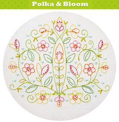 May Flowers Embroidery Pattern  PDF by polkaandbloom on Etsy, $5.25