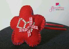 Baby Girl Hairband with Felted Flower di LeMariottineLab su Etsy